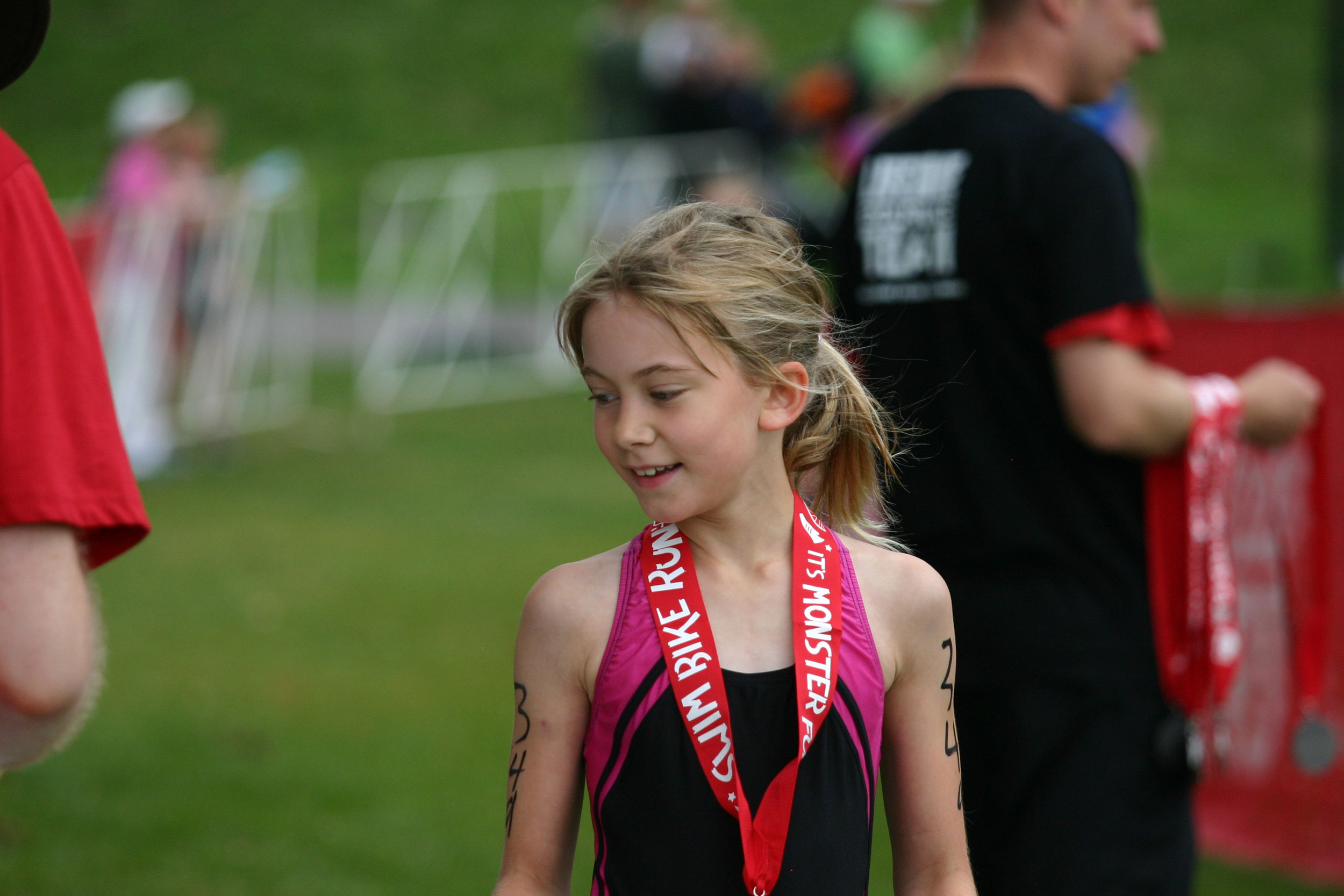 Nora finishing the Lifetime Kids Tri. | Wheely Good