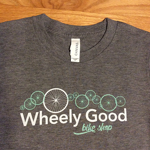 Wheely Good Bike Shop Boy's T-shirt, Zoomed Logo