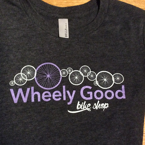 Wheely Good Bike Shop Girls's T-shirt, Logo Shot