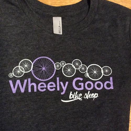 Wheely Good Bike Shop Girls's T-shirt, Logo Shot