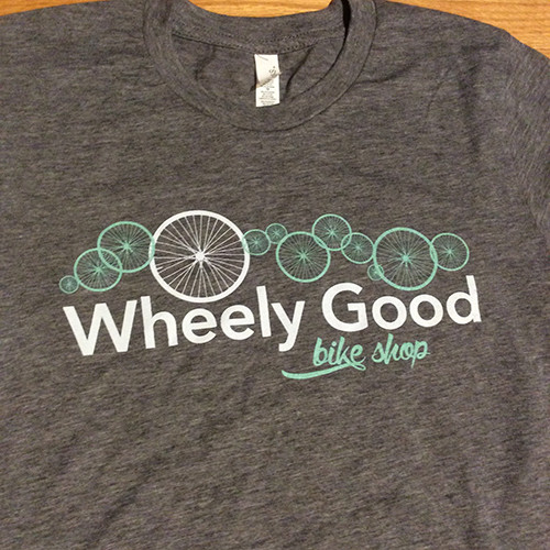 Wheely Good Bike Shop Men's T-shirt, Logo Zoomed