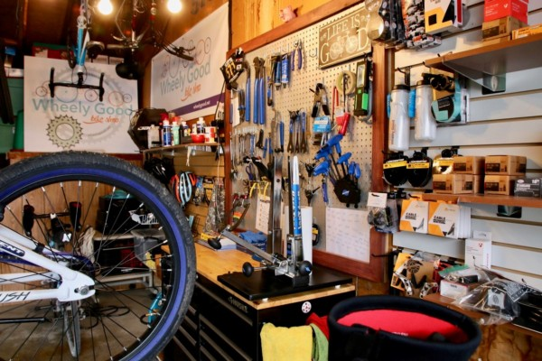 Inside WG Bike Shop