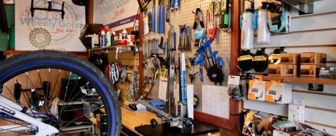Inside WG Bike Shop