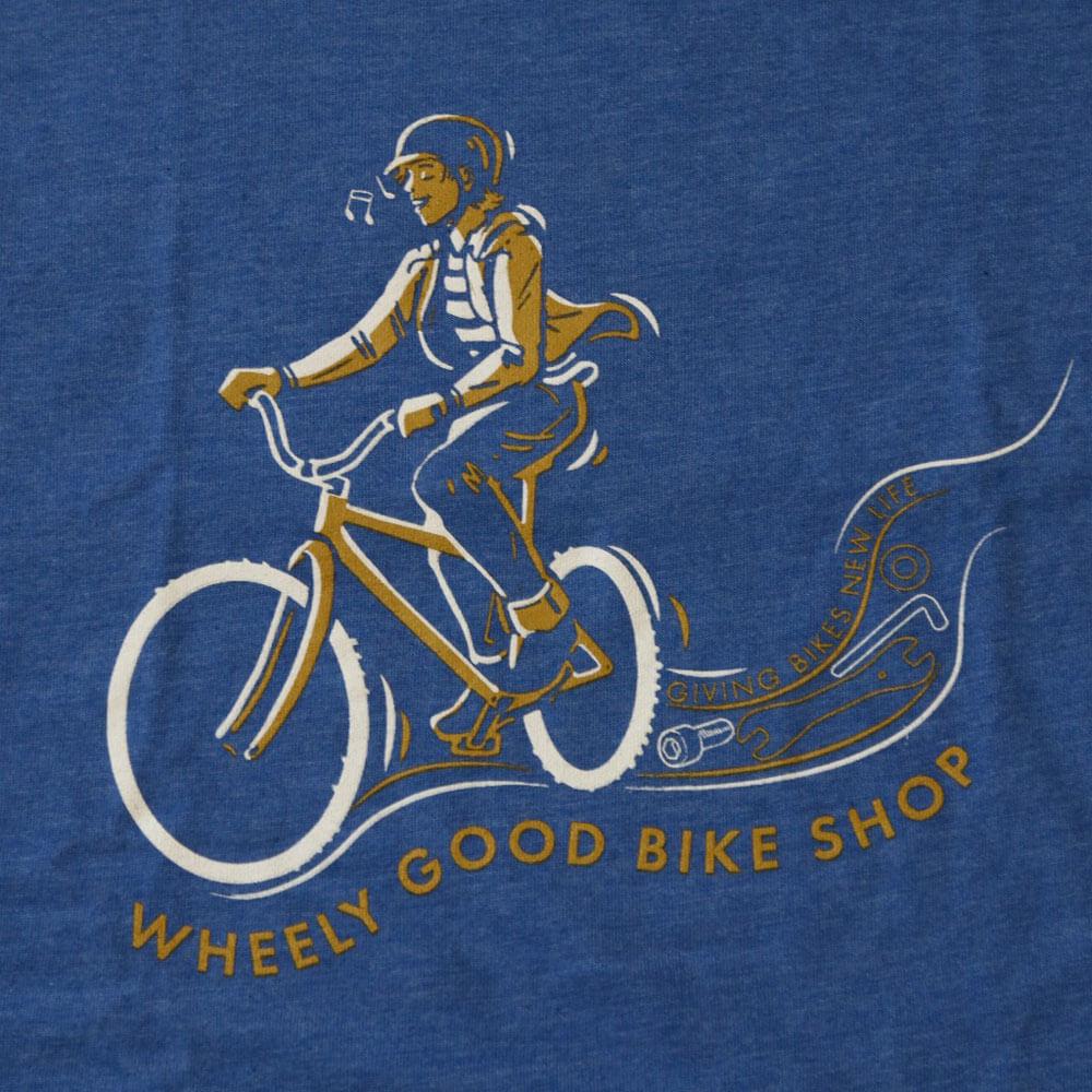 Wheely Good Blissful Biker Close-up - Kid's Blue