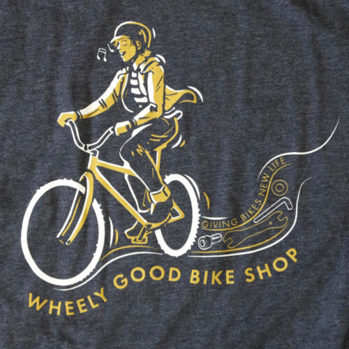 Wheely Good Blissful Biker Close-up - Men's
