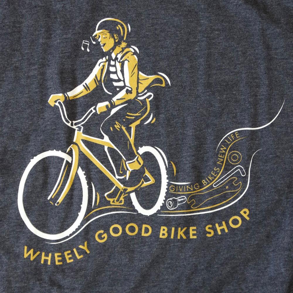 Wheely Good Blissful Biker Close-up - Men's