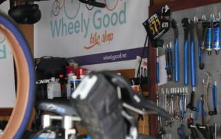 Wheely Good Bike Shop Sign